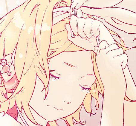 Фото Vocaloid Kagamine Rin плачет (© Максим Асами), добавлено: 30.09.2011 19:51