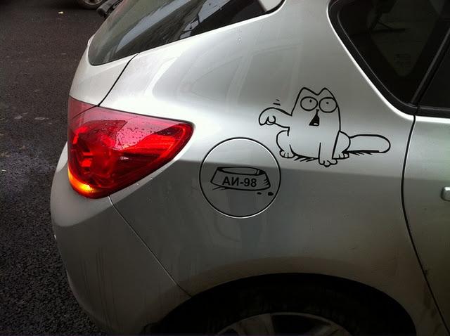 Фото кот саймон на автомобиле