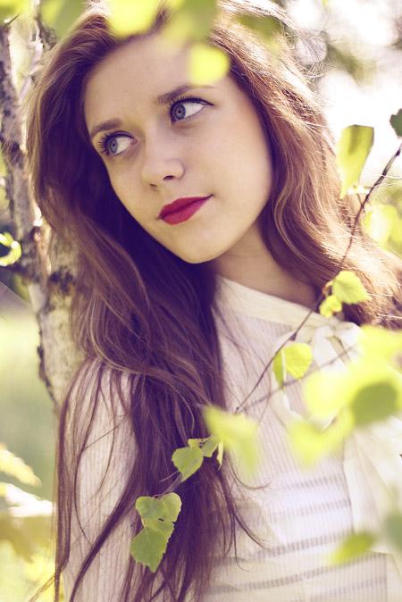 Фото девушка с русыми волосами