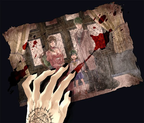 Рука с кровью рисунок