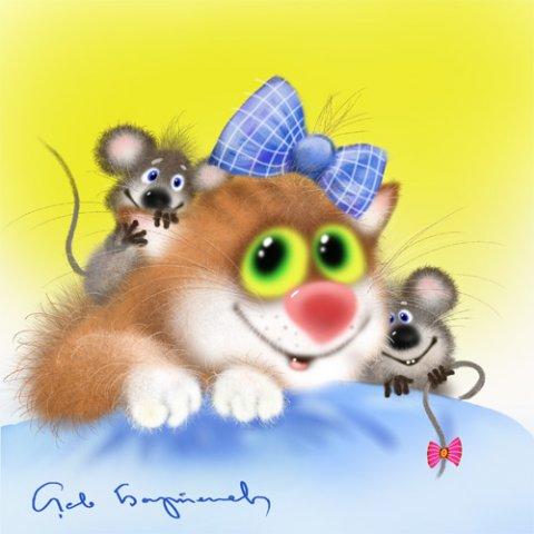 Тэги: животные , кошки , мыши , рисунки ,: photo.99px.ru/photos/32695