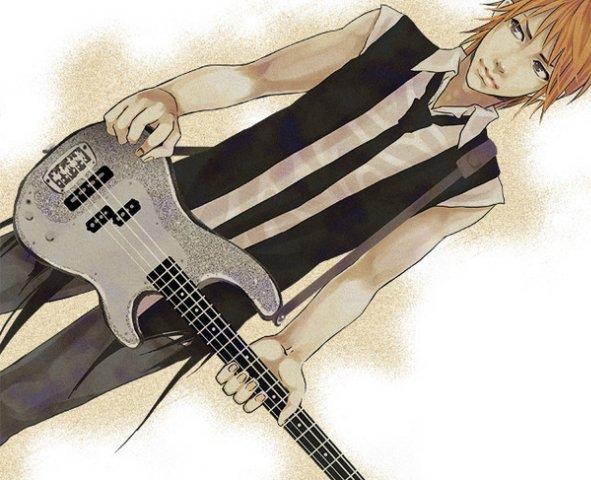 Фото аниме парень с гитарой