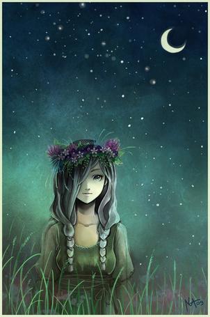 Фото Девушка в ночном небе (© alcatel), добавлено: 04.10.2011 01:32