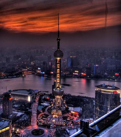 Фото Ночной Шанхай (© alcatel), добавлено: 04.10.2011 06:13