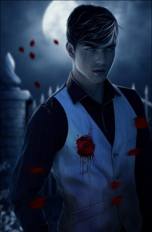 Фото Парень с кровавой розой на желетке (© Lola_Weazlik), добавлено: 04.10.2011 10:17