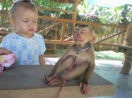 Фото Малыш и обезьянка