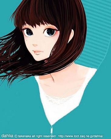 Фото Девушка с синими глазами (Dahlia) (© Юки-тян), добавлено: 08.10.2011 00:20