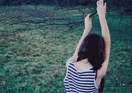 Фото Девушка держится за ветвь дерева (© Радистка Кэт), добавлено: 08.10.2011 00:48