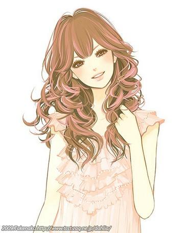 Фото Девушка с вьющимися волосами (Dahlia) (© Юки-тян), добавлено: 08.10.2011 00:54