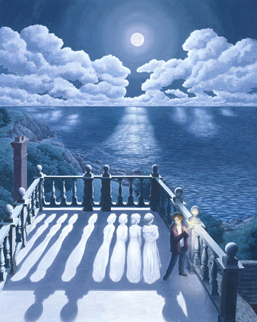 Фото На балконе (оптическая иллюзия)