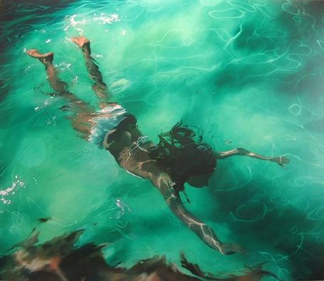 Фото Девушка плавает под водой (© Флориссия), добавлено: 14.10.2011 16:58