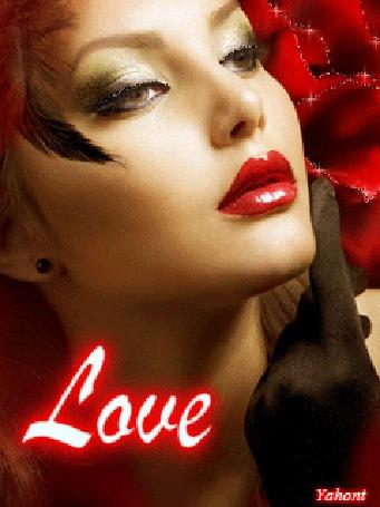 Фото Девушка с красными губами (love)