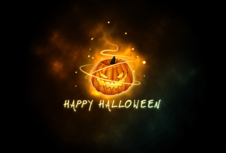 Фото Светящаяся тыква (Happy Halloween / счастливого хэллоуина)