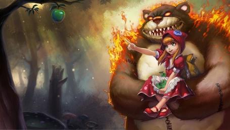 Фото Анни и медведь из игры League of Legends