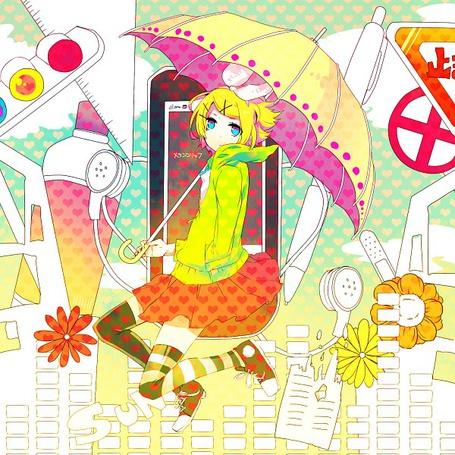 Фото Kagamine Rin / Кагамине Рин из аниме 'Vocaloid / Вокалоид'
