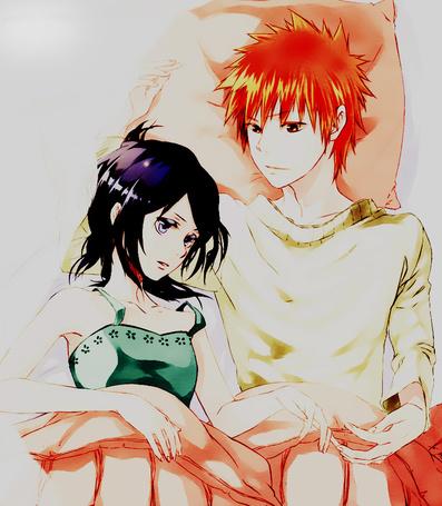 Фото Рукия и Ичиго из аниме 'Блич' (© Panda white), добавлено: 26.10.2011 17:02
