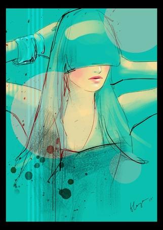 Фото Девушка с длинной челкой  и браслетом на руке (© Lola_Weazlik), добавлено: 26.10.2011 17:22