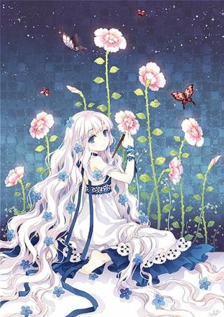 Фото Девушка рисует цветы на стене (© Юки-тян), добавлено: 29.10.2011 12:26