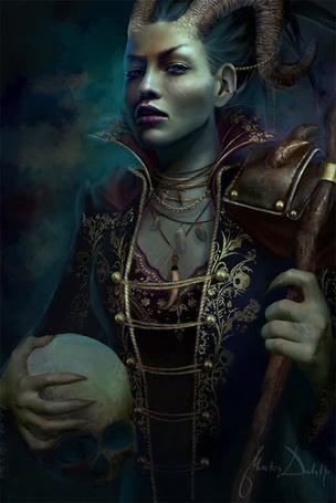 Фото Проклятая королева с черепом в руках (Marta Dahl) (© Яра), добавлено: 31.10.2011 17:01