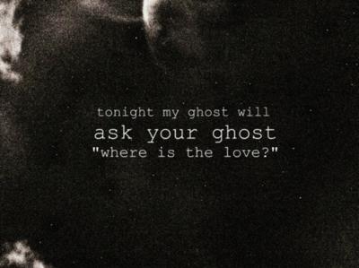 Фото Надпись на черном фоне (tonight my ghost ask your ghost 'where is the love? ')