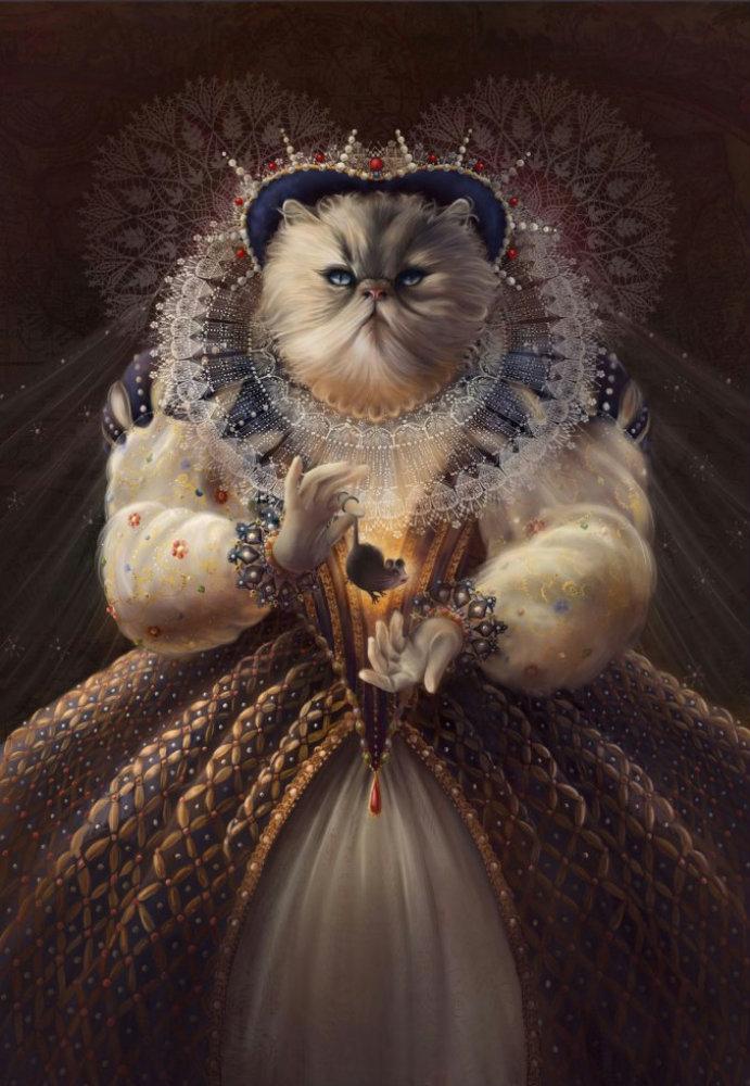 Прикольная картинка королевна, детьми открытки