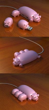Фото Флешки в виде свиньи