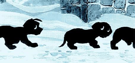 Фото Щенята бегут по снегу (101 далматинец) (© Anatol), добавлено: 04.11.2011 17:52