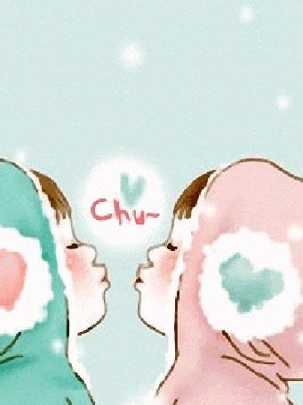 Фото Первый поцелуй под падающим снегом (Chy)