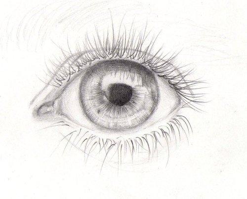 Фото нарисованный карандашом глаз