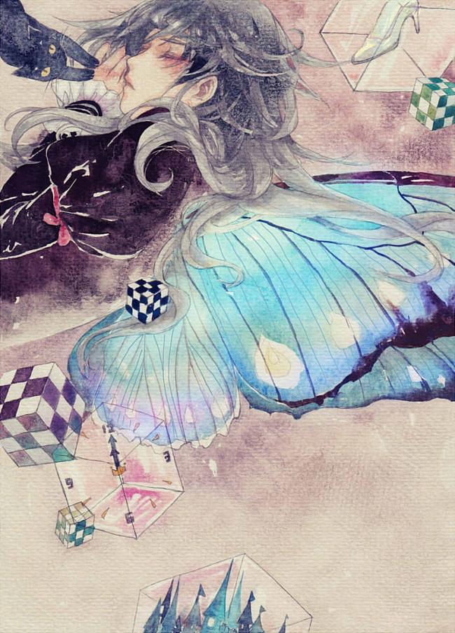 Картинки аниме девушки с крыльями бабочек
