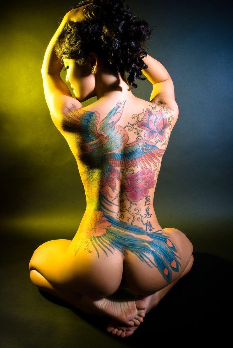 Татуированные девушки фото эротика 7 фотография