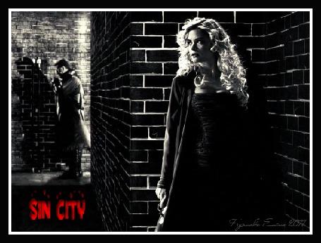 Фото Девушка с опаской смотрит на мужчину за углом ( sin sity ) (© Флориссия), добавлено: 01.12.2011 21:43