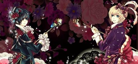 Фото Сиэль Фантомхайв и Алоиса Транси в необычных нарядах (аниме:Тёмный Дворецкий) (© Яра), добавлено: 03.12.2011 16:10