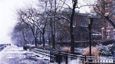 Фото В городе идёт снег