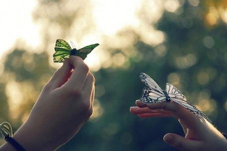 Фото Бабочки на пальцах (© Antuannet), добавлено: 04.12.2011 12:39