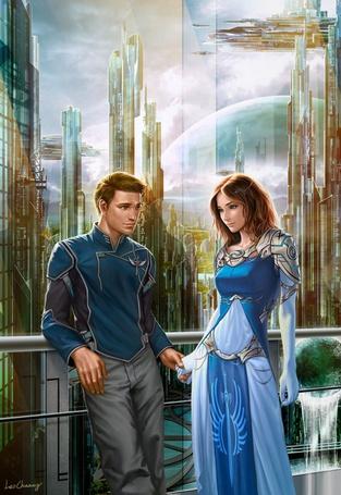 Фото Влюблённые в городе будущего