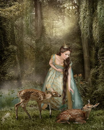Фото Лесная царица(художница Cindy Grundsten)