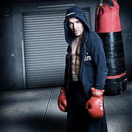 Фото Боксер на тренировке