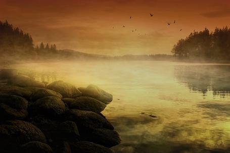 Фото Туманная река (© Флориссия), добавлено: 08.12.2011 12:09
