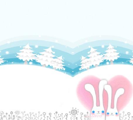 Фото Влюблённые кролики зимой
