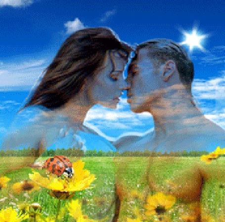 Фото Поцелуй на природе