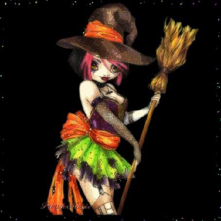 Фото Юная ведьма с метлой (© Elvi), добавлено: 18.12.2011 13:52