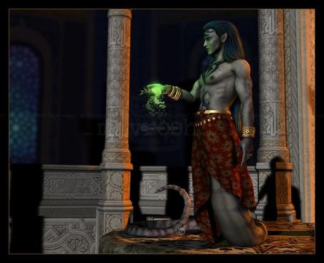 Фото У колдуна из ладони сыпется волшебный порошок