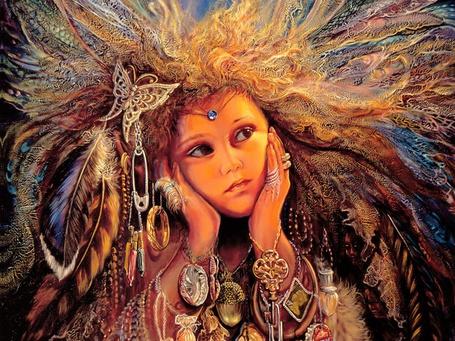 Фото Девушка с пышными волосами обнимает лицо и растерянно смотрит в сторону (© Яра), добавлено: 03.01.2012 21:39