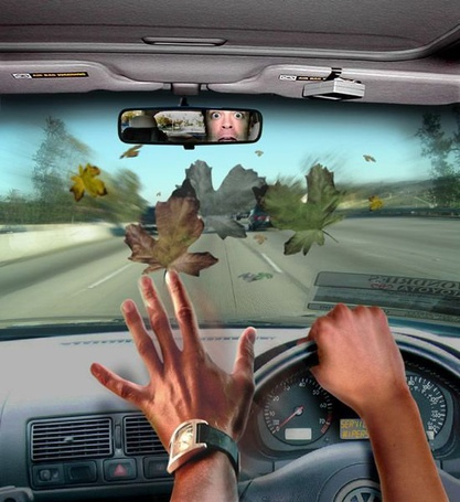 Фото Мужчина едет в машине на большой скорости (© Флориссия), добавлено: 04.01.2012 14:30
