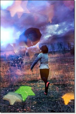 Фото Девушка с чёрным зонтом в поле (© Флориссия), добавлено: 07.01.2012 19:39
