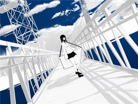 Фото Девушка на мосту