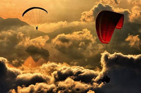 Фото Полёт на пароплане, фотограф Явуз Саривилдиз / Yavuz Sariyildiz (© Флориссия), добавлено: 16.01.2012 12:21