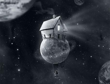 Фото Дом стоит на планете в космосе, фотографа Мануэль Санчес / Manuel Sanchez (© Julia_57), добавлено: 16.01.2012 16:21