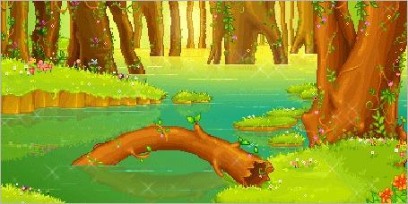 Фото Дерево упало в реку (© Штушка), добавлено: 17.01.2012 23:31